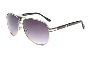 Ev Moda Aksesuar Güneş Ürün detay Toptan-oculos 2020New lüks Büyük Boy Kare Ayna Alloy sunglases erkekler Vintage