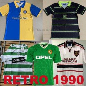 Retro 1998 футбол Джерси Лидс Юнайтед 98 99 Celtic 05 06 прочь черный 1998 1999 Manchester United прочь белый 1990 1992 Ирландия футбол рубашка