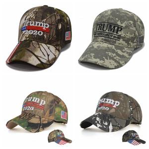 Вышивка Trump Шляпы 2020 Make America Great снова Дональд Трамп Бейсболки Камо Взрослые Спорт на открытом воздухе Hat OOA6706-23