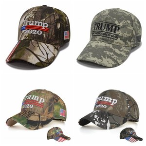 Bordados Trump Chapéus 2020 tornar a América Great Again Donald Trump Baseball Caps Camo Adultos Sports Outdoor Hat OOA6706-23