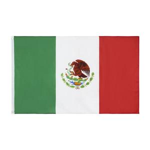 Envío libre en 3x5ft 90x150cm Bandera de poliéster Nacional de México Bandera de México Bandera de País interior al aire libre para la celebración y Decoración