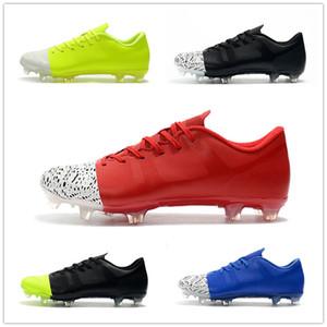 2019 Yeni Mercurial Superfly 360 GS FG Erkek Futbol Ayakkabı Superfly Kramponlar De Futbol Boots Chuteira Siyah Erkekler Dünya Kupası Futbol Profilli