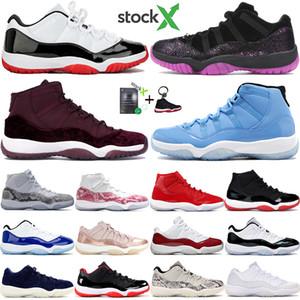 Jumpman 2020 bajo blanco Bred 11 11s hombres zapatos de baloncesto heredera noche marrón OVO gris de piel de serpiente pensar 16 para hombre zapatillas de deporte para mujer de cereza