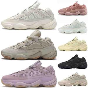 2020 Top Cheap Hommes Femmes Chaussures de course Kanye West 500 formateurs ROSE fard à joues super Lune jaune doux Vision Designer Chaussures de sport 36-47