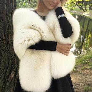 Bayanlar Kalın Yumuşak Boyunluk Yapay Şal Katı Kaşkol için Lüks Sahte Kürk Atkı Bayan Kış Sıcak Kürk Yaka