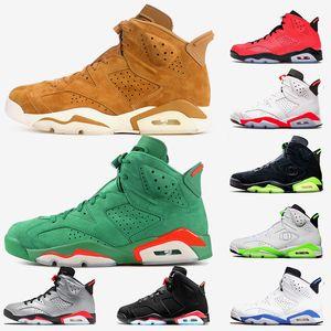 Nike Air Jordan Retro Travis Scott 6 6s  zapatos de baloncesto del Mens Patos de GS Negro reflectante 3M Oregon PE Tinker Diseñador Formadores zapatillas de deporte 36-47