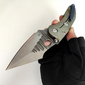 Handle limitada Personalização Versão ponto pasta Borka faca dobrável Rocha Moer M390 Lâmina de Ouro Titanium Tools Outdoor EDC táticos