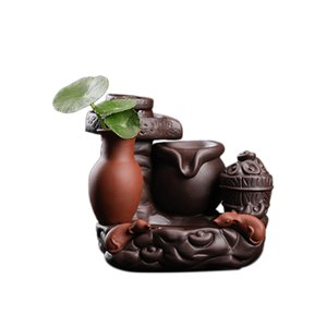 Backflow Incense Burner Flower Pot Plant Container Ceramic Waterfall Incense Holder Home Decor Gift