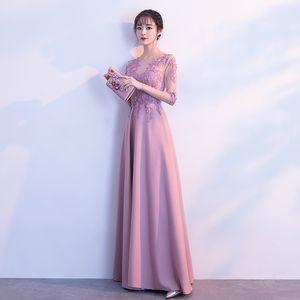 Cheongsam High Quality Dress Sexy O-Neck Bride Dress Slim Long Banquet Women Qipao traditional chinese bride