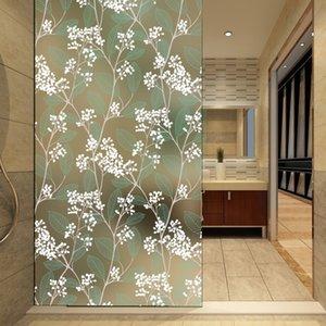 Birden boyutları opak kendinden yapışkanlı buzlu Gizlilik cam filmi dekoratif pencere çıkartmaları macun Yeşil Yatak Odası 4 m uzun Y200421