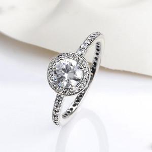 뜨거운 판매 실버 지르콘 반지 간단한 고품질 밴드 손가락 반지를 결혼 반지 여성용 클래식 쥬얼리 파티 선물 도매