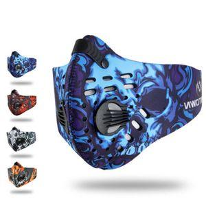 Sports de plein air équitation activé masque antipoussière carbone véritable coup les hommes et les femmes colorées respirant de ZZA255-1 masque confortable