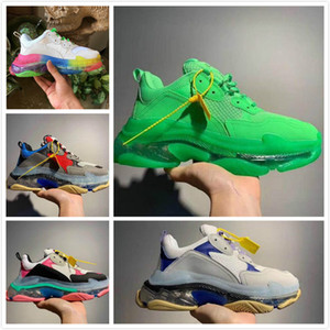 Mulheres Homens 17FW pai Platform Casual Shoes Cristal Triple Bottom-S Lazer Moda Sapatos Sneakers para instrutor vovô Old Men Vintage chaussur