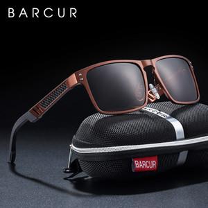 Estilos BARCUR Trending magnesio y aluminio de cristal cuadrado de los hombres gafas de sol polarizadas Gafas de sol Hombres Deporte Gafas Gafas de sol T200108