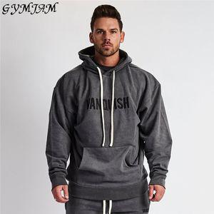 Casual Street Wear Men's 2019 Fall Fashion Men's Hoodie Cotton Sports Pullover Jogger Muscle Men Fitness Sportswear Brand Men's T200704