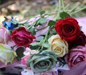 Искусственные Цветы Розы Flannelette Роза Венки Свадебные Букеты Корсаж Наручные Цветок Головной Убор Головные Уборы Главная Декор Партии новый DC762