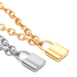 Silver Gold Lock Necklace Forever Love Lock Colgante Gargantilla Diseñador Joyería de moda para Mujeres Regalo Drop Ship 380170