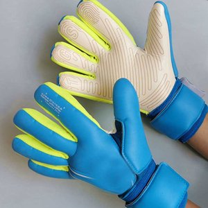 SGT unisexe Gants Gardien de but de football sans doigt Protection Protège Thicken Latex Football Gardien de but Gants anti-dérapant But Gants gardien