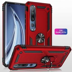 Armure de qualité militaire cas de téléphone pour Xiaomi Mi 10Pro 10 Remarque 10Pro 10 Bague voiture doigt magnétique couverture pour Xiaomi Mi 9T Pro 9Lite 9 9SE A3