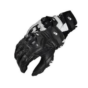 Мужские Открытый гонки проветрить перчатки конкуренции Мотоцикл перчатки Синтетическая кожа углеродного волокна езда Спорт Рукавицы Полный Finger