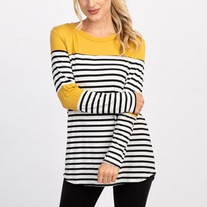 Nursing Top Women Breastfeeding Long Sleeve Stripe Loose Casual Winter for Feeding Maternity Pregnancy Clothes Plus Size 18Dec17