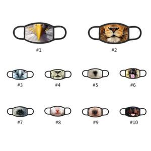 3D Tier Baumwolle Staubmasken Cartoon Frühling und Herbst Tide Modelle atmungsaktiv Masken gereinigt und wieder verwendet Schutz Maske XHH9-3072