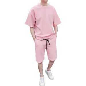 Мужские Наборы футболки + шорты Мужчина Марка двухкусочного Костюм Tracksuit Мужской Повседневный Tshirts тренировка Фитнес-комплекты Jogger костюмов для мужчин