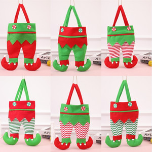 Elf Christmas Candy Bag Xmas Red Wine Bottle Bag Gift Candy Bag Elf Wedding Xmas New Year Gift Bags