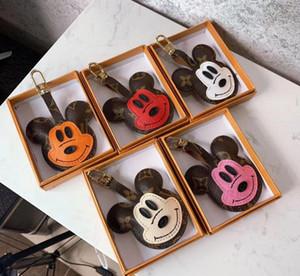 2020 3D Carino Litter mouse Ciondolo Donna 5 color cuoio monili sacchetto high-end ciondolo portachiavi Accessori Regali all'ingrosso senza finestre