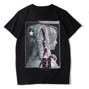 2020 nuevos Mens del estilista camiseta de los hombres ocasionales de las mujeres Negro T verano blanco de la camisa tamaño de la manera Streetwear manga corta S-XXL