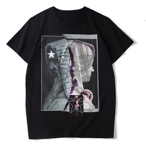 2020 New Mens Stylist T Shirt Homens Mulheres Casual Preto T branco do verão camiseta Moda Streetwear manga curta Tamanho S-XXL