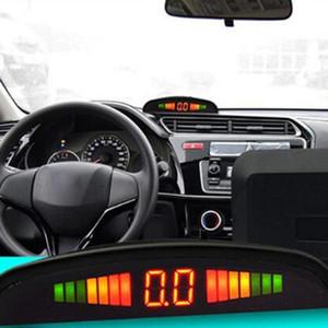 12V voiture Radar de recul Parktronic LED Capteur de stationnement avec 4 capteurs arrière de sauvegarde Parking Radar Moniteur Détecteur