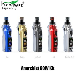 Kangvape Anarchist 60W Kit Anarchist Mod 1500mAh Built in Battery with 4ML POD OLED Display Ecigarette Pod Kit Authentic