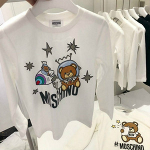 Children Designer Sweater New Arrival Fashion Boys Girls Brand Letter Printed with Space Bear Sweatshirts Luxury Hoodies 2020