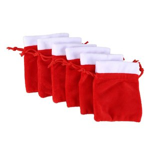 Christmas Party Favors Fashion Packaging Bags Wedding Candy Cookies Velvet Drawstring Gifts Pouches Red Bag