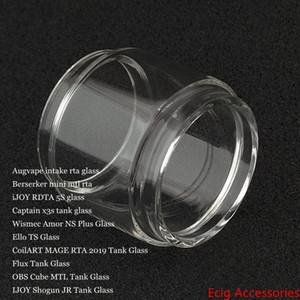 Bolha Bulb Fat tubo de vidro para a ingestão de Berserker Mini iJoy RDTA 5S Capitão X3s Amor NS Além disso Ello TS MAGE RTA 2019 Flux Cube MTL Shogun JR