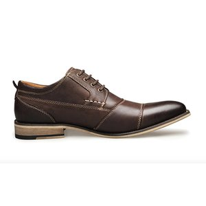 Высокое качество Мужчины Формальные платье обувь Джентльмен бизнеса обувь натуральная кожа Мокасины мужские Toe Остроконечные Дизайнер офиса партии Повседневная обувь
