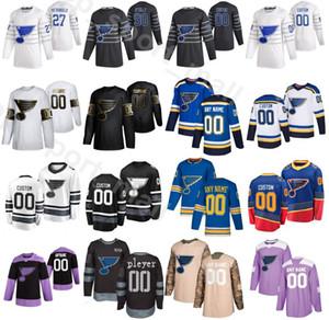 2020 All Star St. Louis Blues Jersey Hóquei no Gelo 57 David Perron 90 Ryan OReilly O Reilly 10 Brayden Schenn 27 Alex Pietrangelo