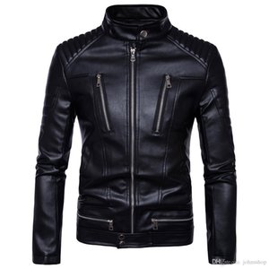 Men's PU Jackets Coats Motorcycle Leather Jackets Men Autumn Spring Leather Clothing Male Casual Coats Clothing 5XL
