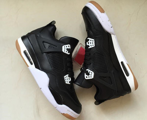 New Fashion 4 Black White Gum Brown Man Designer Basketball Shoes Special Edition IV Custom Sports Trainers Come With Box Size US7-13