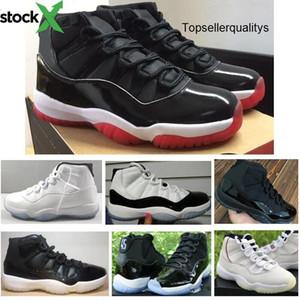 ألياف الكربون الحقيقية 11s 2020 New Bred Concord Gamma Blue Platinum Tint 72-10 Jordon basket Shoes Men Women Top Quality Sneakers With
