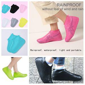 Sapatos da tampa do silicone gel impermeável chuva sapatos Covers reutilizável Rubber Elasticidade Overshoes chuva botas reciclável T2I5354