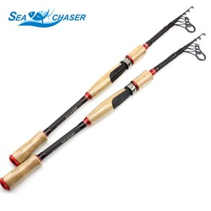 High Quality wooden handle 2.1M 2.4M 2.7M carbon Spinning Rod lure telescopic fishing rod Portable travel fishing pole Trout Rod
