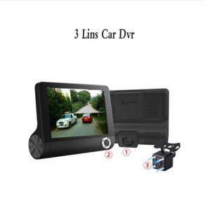 4.0 в 3 Способ автомобильный видеорегистратор камеры видео рекордер заднего вида авто регистратор с двумя камерами DVR двойной объектив тире Cam Carcorder