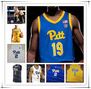 2021 Pittsburgh Panthers Pitt Pallacanestro Jersey College Trey McGowens Xavier Johnson Justin Champagnie Au'diese Toney Ryan Murphy Personalizzato 4XL