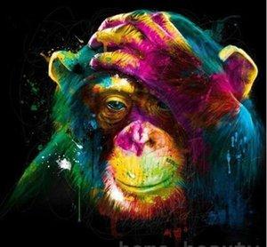 Colorido orangután - Pintura por Números Kits Para adultos de bricolaje Pintura Hermosa Por Números cuadro de DIY Kits de Arte Moderno Decoración Arte de la pared