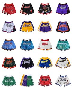 Just Mens Don Basketball Shorts Seattle Lakeers LeBron James Curry Wariors Los Bullls Nugets Angeles 76res Bullets Knivks Basketball Pant