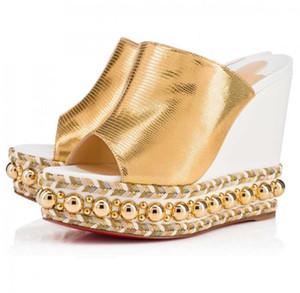 Hot Sale-Verão Mulheres parte inferior vermelha dos saltos altos das senhoras do Sandals feminino mocassim Comfort Gladiator Sandal EU35-42