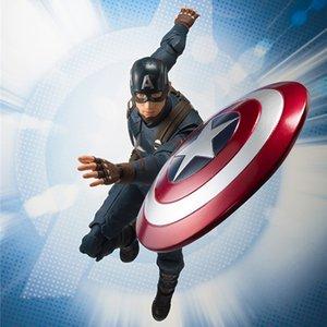 SHF Marvel Avengers 4 Endgame Capitão América Action Figure 15 centímetros Modelo CollectionToy Boneca Presente de Natal