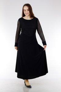 Schier Дама Большого размера платье 1479 Черный корабль из Турции в 2313